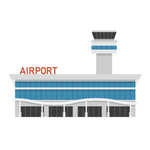 Airport Free PNG Illustration