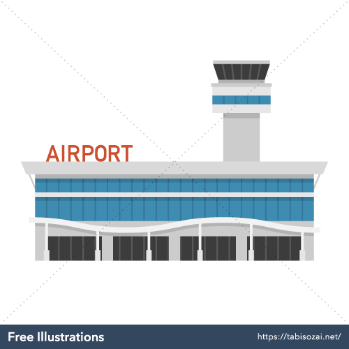 Airport Free Vector Illustration
