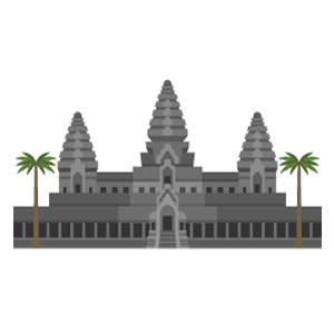 Angkor Wat Free PNG Illustration