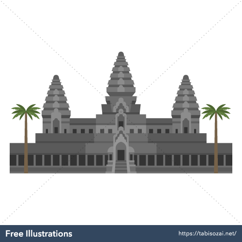 Angkor Wat Free Illustration