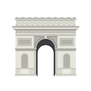 Arc de Triomphe Free Vector Illustration