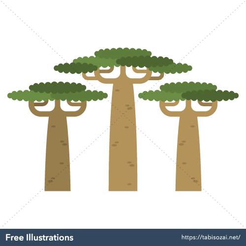 Baobab Free Vector Illustration
