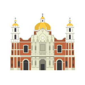 グアダルーペ寺院の無料イラスト素材