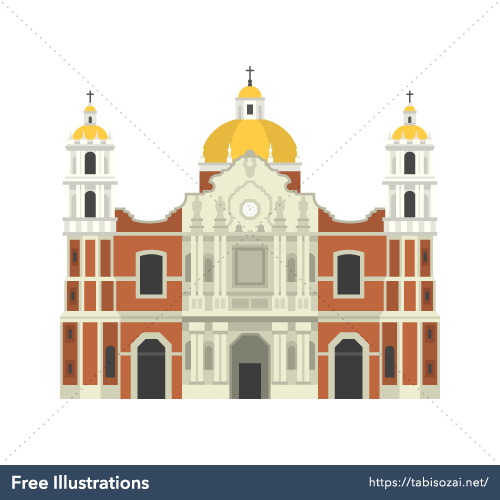 Basilica of Our Lady of Guadalupe Free Illustration