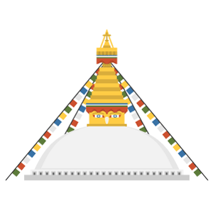 Boudhanath Free Vector Illustration