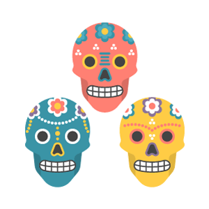 Calavera Free PNG Illustration