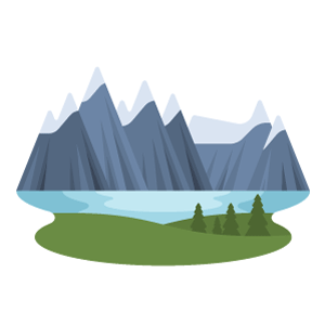 Canadian Rockies Free Vector Illustration