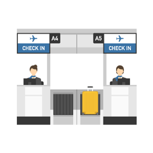 Check in counter Free Vector Illustration