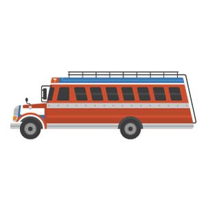 チキンバスの無料イラスト素材