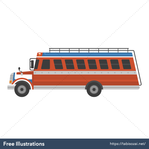 Chicken bus Free Vector Illustration