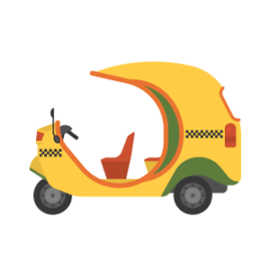 Coco taxi Free Vector Illustration
