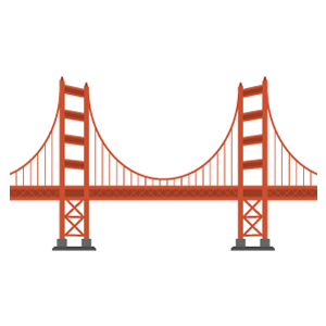 ゴールデンゲートブリッジの無料イラスト素材