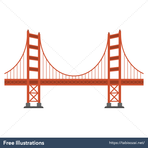 Golden Gate Bridge Free Illustration