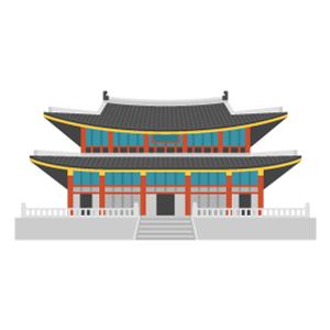 景福宮の無料イラスト素材