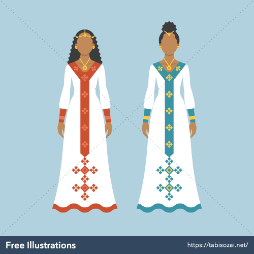 Habesha kemis Free PNG Illustration