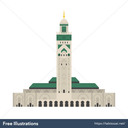 Hassan II Mosque Free Illustration