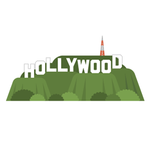 Hollywood Sign Free Vector Illustration