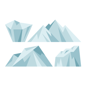 Iceberg Free PNG Illustration