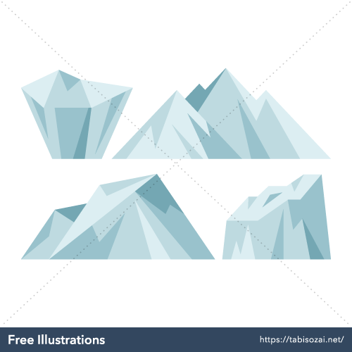 Iceberg Free Vector Illustration