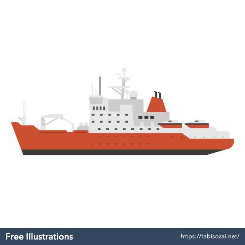 砕氷船の無料イラスト素材