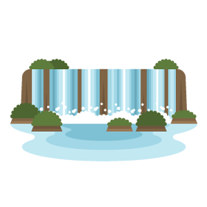 Iguazu Falls Free Vector Illustration