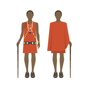 Maasai costume Free Vector Illustration