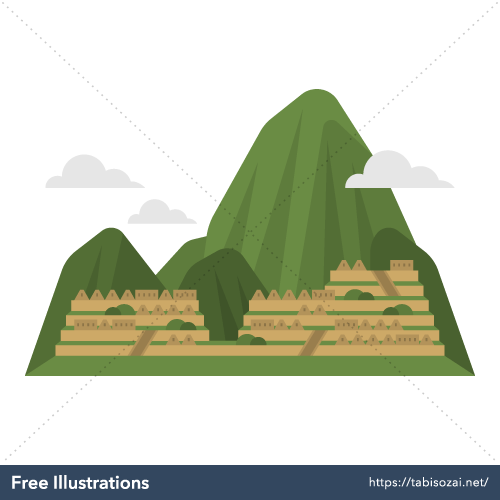 Machu Picchu Free Vector Illustration