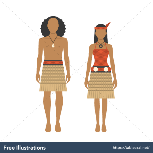 Maori costume Free Vector Illustration