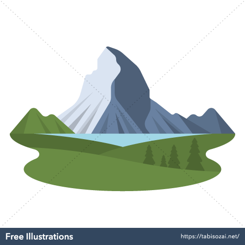 Matterhorn Free PNG Illustration