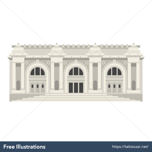 Metropolitan Museum of Art(USA) Free Vector Illustration