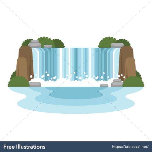 Niagara Falls Free Vector Illustration
