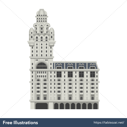 Palacio Salvo Free Vector Illustration