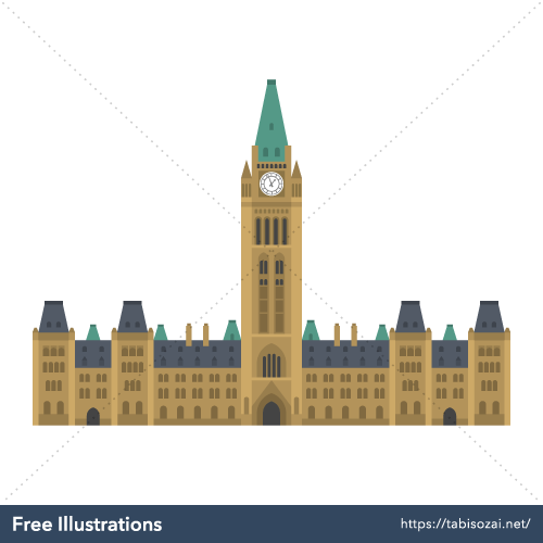 Parliament Hill Free Vector Illustration