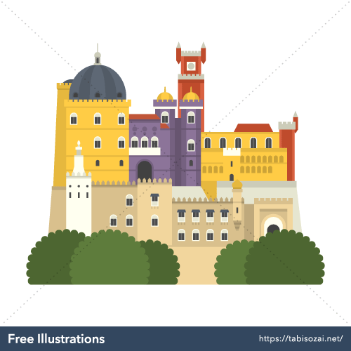 Palácio da Pena Free Vector Illustration