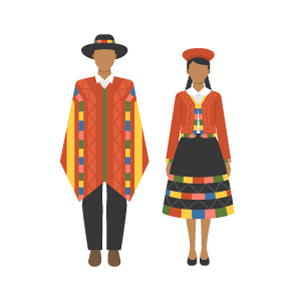 Peru national costume Free Vector Illustration