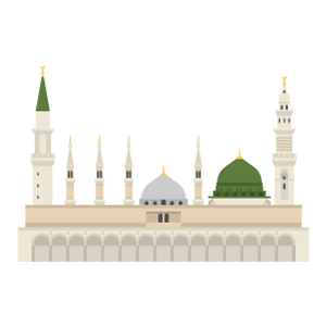Al Masjid An Nabawi Free PNG Illustration