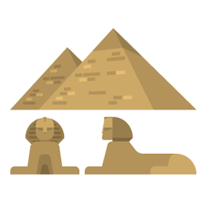 Pyramid&Sphinx Free Vector Illustration