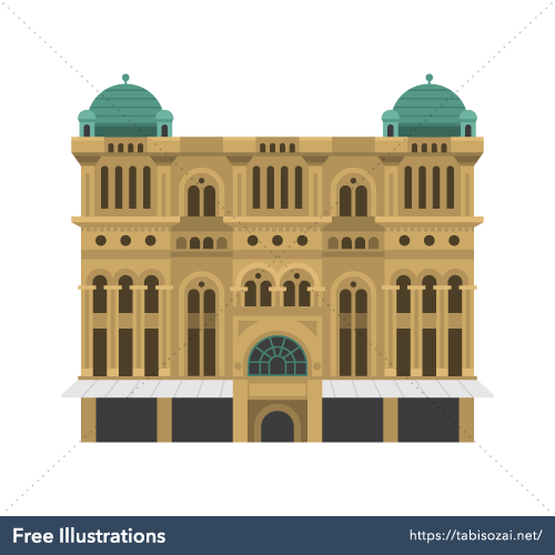 Queen Victoria Building Free Vector Illustration