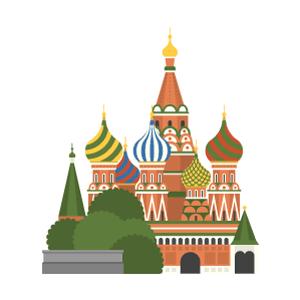 ワシリイ大聖堂の無料イラスト素材