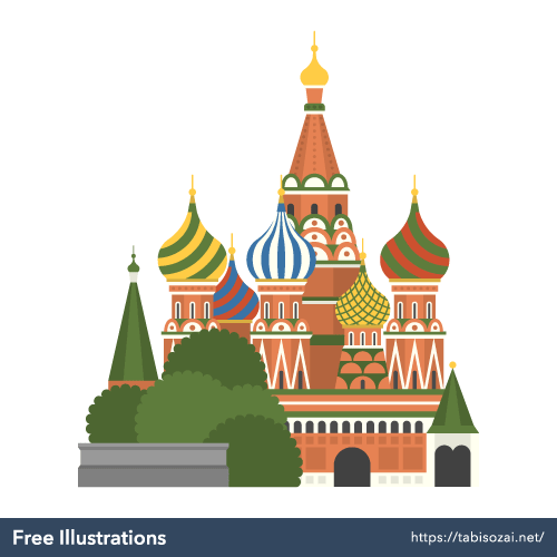 Saint Basil's Cathedral Free PNG Illustration