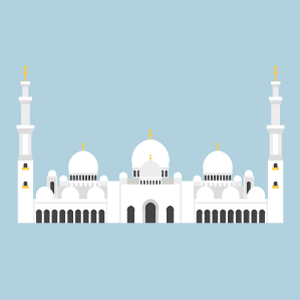 Sheikh Zayed Mosque Free Vector Illustration