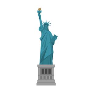 自由の女神の無料イラスト素材