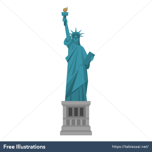 Statue of Liberty Free Vector Illustration