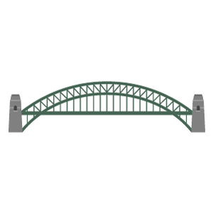 Sydney Harbour Bridge Free PNG Illustration