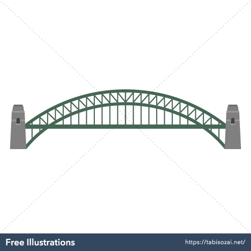 Sydney Harbour Bridge Free PNG Illustration