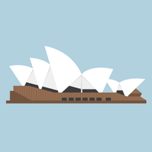 Sydney Opera House Free PNG Illustration