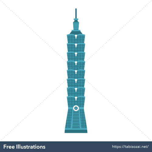 Taipei 101 Free PNG Illustration