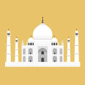 Taj Mahal Free Vector Illustration