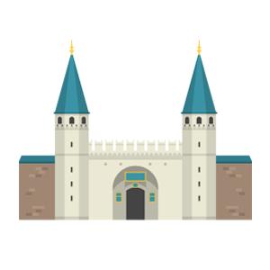 トプカプ宮殿の無料イラスト素材
