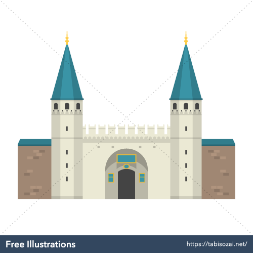 Topkapı Palace Free Vector Illustration